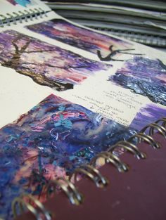Take a look through our examples of sketchbooks from our Fine Art Course. All students are encouraged to work in our A2 sized sketchbooks. Here students can colate information and ideas to present for final assessment at the end of the year.