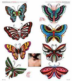 207-idea-tattoo-butterfly-traditional-old-school.jpg (354×400)