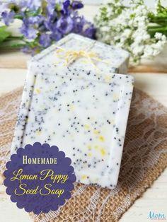 Handmade Soap 262756959496404726 - Homemade Lemon Poppy Seed Soap Source by nerdyfarmwife Diy Crafts To Do, Soap Making Supplies, Homemade Soap Recipes, Soap Molds, Home Made Soap, Handmade Soaps, Artisanal, Poppies, Seeds