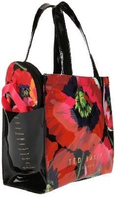 Ted Baker Poppy Print Shopper Bag + Flip Flop Set