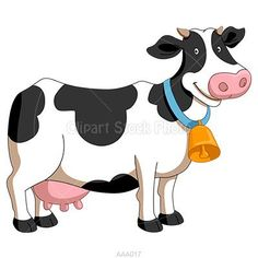 Friendly, smiling black and white milk cow clip art image with blue - golden bell collar. This lovely adorable cartoon dairy cattle graphic is perfect. Cow Clipart, Free Clipart Images, Cartoon Cow, Cartoon Pics, Diy Bag Painting, Farm Animals, Cute Animals, Eid Photos, Cow Illustration