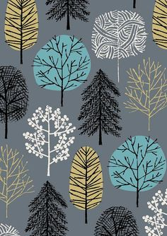 Blue Arboretum limited edition giclee print by EloiseRenouf, $25.00 Whole selection of nature and tree prints!