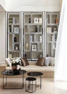 Luxury Living Room Designs - Aren Home Decor Living Room Modern, Living Room Interior, Living Room Designs, Living Room Decor, Dining Room, Interior Livingroom, Bookshelf Design, Simple Bookshelf, Bookshelf Ideas