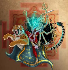 My interpretation of Maa Durga. Mother Kali, Divine Mother, Kali Hindu, Hindu Art, Maa Durga Hd Wallpaper, Geometric Wallpaper Iphone, Durga Ji, Lord Rama Images, Indian Art Gallery