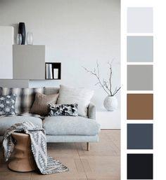15 Color Palette Design Ideas For Your Home - Color Design Inspiration - Local Home US - Home Improvement House Color Schemes, Living Room Color Schemes, House Colors, Modern Living Room Colors, Art Deco Living Room, Living Rooms, Home Colour Design, Estilo Tudor, Palette Design