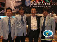 Equipo de arbitraje, nacional e internacional bajo la dirección técnica del maestro Myung Chang Kim, Jefe de arbitraje Unión Panamericana.