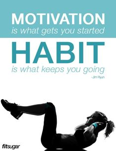 Motivation and Habit get you Fit --- How to get yourself motivated www.developgoodha...