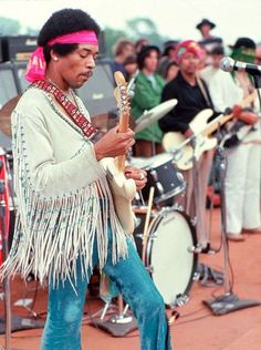 Jimi Hendrix gave an iconic performance at the Woodstock Festival. Thirty-two of the best-known musicians of the day appeared during the weekend in front of nearly half a million people.