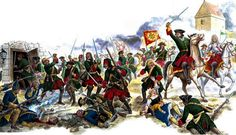 Tsar Peter the Great leading the battle against the Swedes, Great Northern War