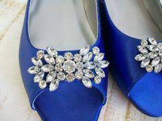 Wedding Shoes-Sapphire Blue- 100 Colors. $154.00, via Etsy.