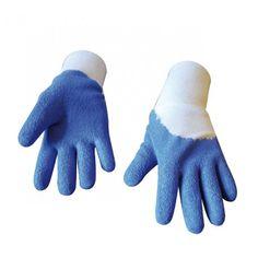 Petits gants de protection pour enfants. Pour jouer les apprentis jardiniers en toute sécurité. Coloris au choix : bleu, rose.