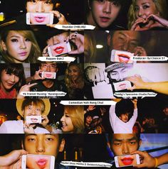 #2NE1 #DOYOULOVEME  2NE1 《DO YOU LOVE ME》客串人物 2NE1 《DO YOU LOVE ME》Cameos list  1. Thunder (MBLAQ) 2. Dok2 3. Choice 37 (制作人 Producer & DJ) 4. Hwangssabu 黄师傅 5. Teddy's Twosome - 工作室海报 | Studio Poster 6. 喜剧家 盧弘喆 | Comedian Noh Hong Chul 7. 模特儿 손민호 以及不明身份的帅哥 | Model Shon Minho & unidentified Hottie  8. YG Dancers