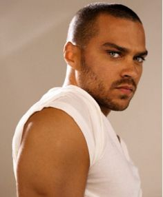 Jesse Williams...so I have a weakness for strong upper arms and gorgeous eyes...