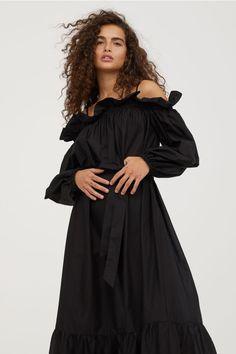Off-the-shoulder dress - Black - Ladies | H&M GB 2