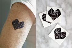 geometric heart tattoo - Google zoeken
