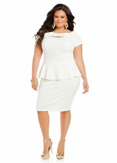 Shop affordable, plus size women's sweater dresses online for Off now at Ashley Stewart. Get your trendy clothing for less at Ashley Stewart. Plus Size Dresses, Plus Size Outfits, Dresses For Work, Curvy Girl Fashion, Plus Size Fashion, Modest White Dress, Meeting Outfit, Plus Size Chic, Daytime Dresses