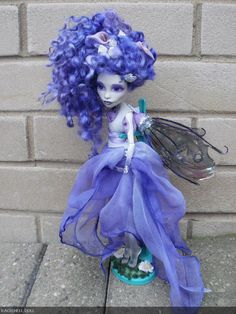 monster high fairy dolls | monster high custom repaint doll Hyacinth the by HausOfDolls