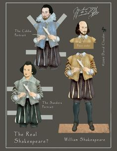 The Real Shakespeare Paper Doll by David Claudon.
