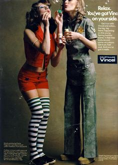"""1972 editorial advert .""""Get it On with Vincel & Cotton"""". GLAM ROCK"""