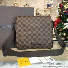85e5c41136 Louis Vuitton N41213 District PM Messenger Bag Damier Ebene Canvas