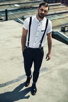 the-suit-man: Suits & men & mens fashion:... - MenStyle1- Men's Style Blog mens fashion suspenders black and white dapper