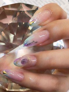 Installation of acrylic or gel nails - My Nails Bling Nails, Swag Nails, Hot Nails, Hair And Nails, Nailart, Korean Nails, Unicorn Nails, Japanese Nail Art, Manicure E Pedicure