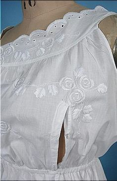 c. 1900-1906 RARE Nursing Mother White Edwardian Princess Petticoat with Embroidery and Bobbin Lace!
