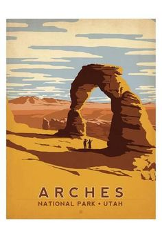 Arches National Park, Utah Art Print by Anderson Design Group at Art.com