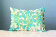 Flower Linen Pillow Cover Decorative Cushion Throw by LaurenAlison, $49.00