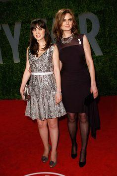 Emily Deschanel Photos: Vanity Fair Oscar Party Hosted By Graydon Carter - Arrivals