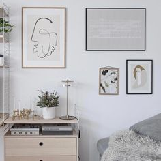 wall styling with graphics art, neutral, minimal, black and white, scandi bedroom Lodge Bedroom, Scandi Bedroom, Rustic Bedroom Design, White Bedroom Decor, Rustic Design, Rustic Decor, Bathroom Barn Door, Riverside House, Cottage Renovation