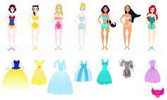 Disney Princess Paper Dolls!