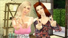 Best Friends Poses by DalaiLama at The Sims Lover • Sims 4 Updates