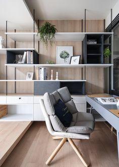 Industrial Interior Design, Office Interior Design, Office Interiors, Interior Design Living Room, Modern Industrial, Home Office Setup, Workspace Design, Cabinet Design, Apartment Design