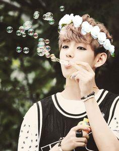 V BTS flower crown