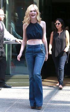 Elle Fanning Flare Jeans