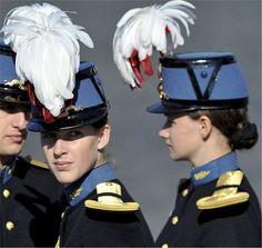 ❤❤❤ Copyrights unknown. Female Saint Cyr Military Academy cadets.