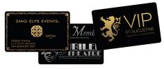Our 30 mil black PVC plastic cards are the same size and thickness as a credit card with a gloss finish. They can be imprinted with either gold or silver metallic ink. Sequential numbering and/or variable text can be added at no additional cost. These black plastic cards are perfect for VIP cards, membership cards, access passes, gift cards, business cards, and so much more!