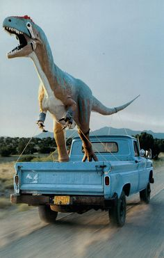 Unknown photographer, ca. 1990s, Fiberglass Allosaurus From National Geographic…