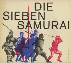 THE SEVEN SAMURAI (AKA SHICHININ NO SAMURAI, Akira Kurosawa, 1954) pressbook cover