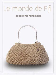 Popcorn Stitch, Crochet World, Crochet Purses, Love Crochet, Knitted Bags, Crochet Fashion, Beautiful Bags, Fashion Bags, Lana