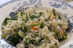 Risotto primavera / Risotto with spring vegetables. Risotto alla ...