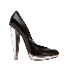Dominatrix Chic! 10 Leather Pieces for Fall: YSL Mirror Accent Pump.