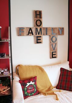 oversized scrabble tiles : Bachmans 2014 Holiday Ideas House