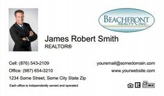 Beachfront Realty Business Cards - BRI-BC-066 - With Photo, Compact,  Small Size Photo, White