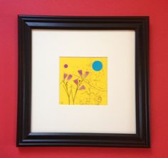 Original Framed Pressed Botanical Rose Petals, Twigs and Feather Grass by Lois Lawrence $35.00
