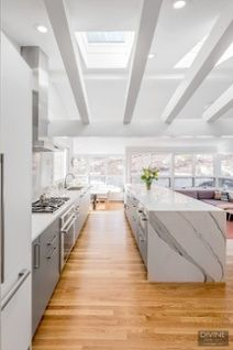 Pin By Divine Design Center   Modern, European Interiors + Furniture //  Whole Home Renovations On White Kitchens   Pinterest   Wood Laminate,  Kitchens And ...