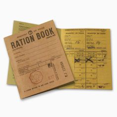 Reproduction Ration Book | Peeks