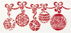 Christmas Ball Swag Stencil by Designer Stencils New Cake Decorating Items Christmas Balls, Christmas Cookies, Xmas, Winter Holidays, Holidays And Events, Cricut Stencils, Cake Stencil, Christmas Stencils, Martha Stewart Crafts