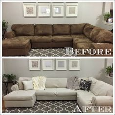 Ashley sofa cover : covering a sectional couch - Sectionals, Sofas & Couches